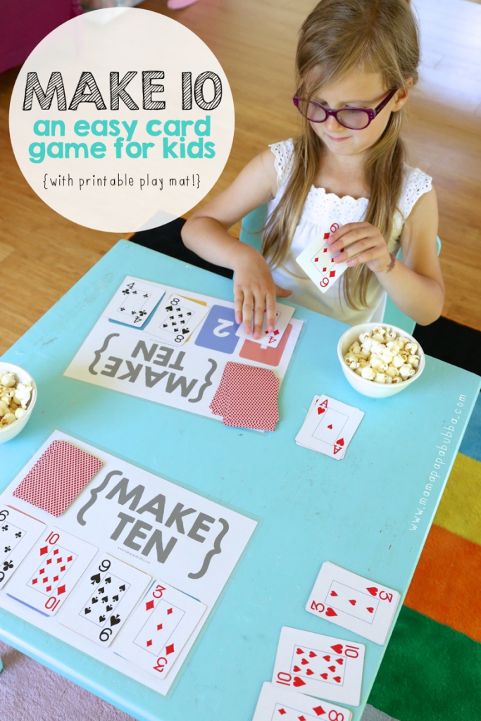 Make Ten {An Easy Card Game For Kids} - Mama.papa.bubba. | Sorry Board Game Cards Printable