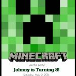 Make Your Own Custom Printable Minecraft Party Invitations | Minecraft Birthday Card Printable