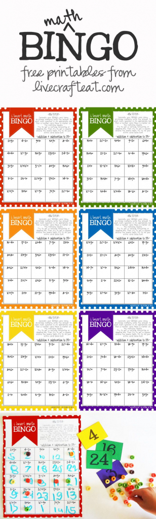 Math Bingo Printable For Kids - Free | Math Activities | Math, Math | Printable Addition Bingo Cards
