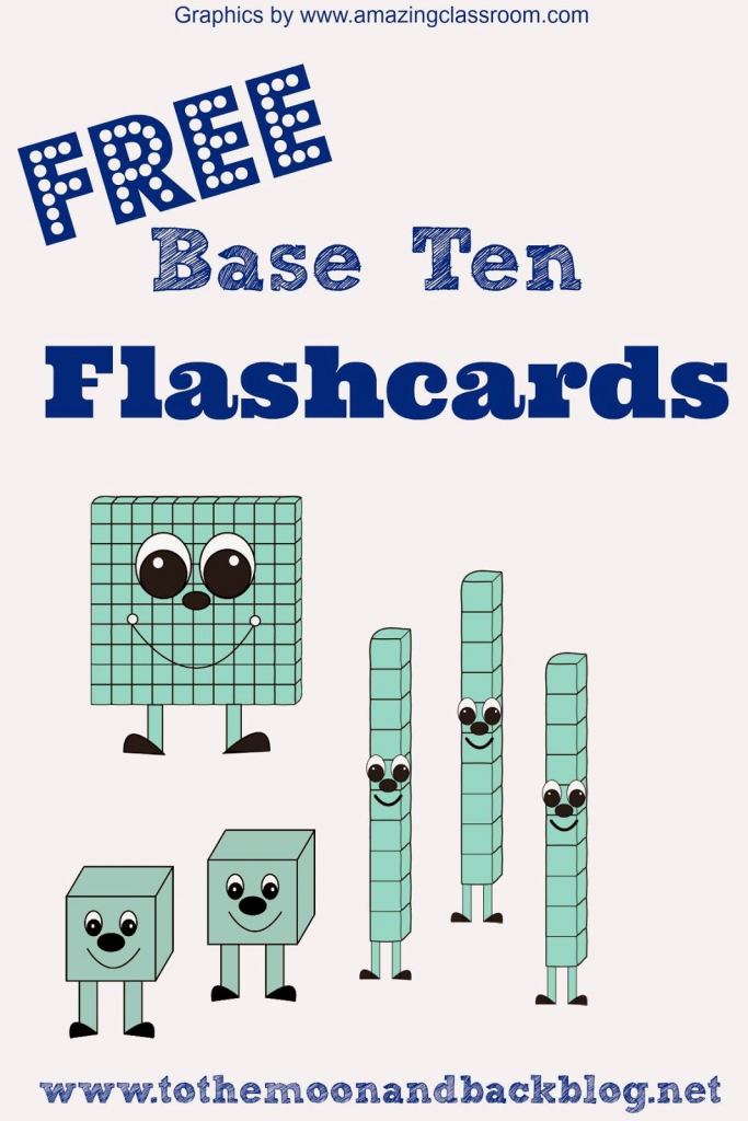 Math Freebies: Printable Base Ten Math Practice Flash Cards | 3Rd | Base Ten Picture Cards Printable