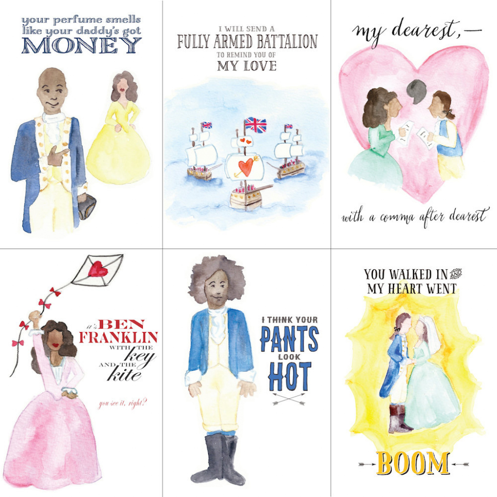 May You Be Satisfied With These 'hamilton' Valentine's Day Cards | Hamilton Birthday Card Printable