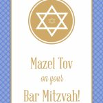 Mazel Tov On Your Bar Mitzvah – Bar Mitzvah & Bat Mitzvah Card | Bar Mitzvah Cards Printable
