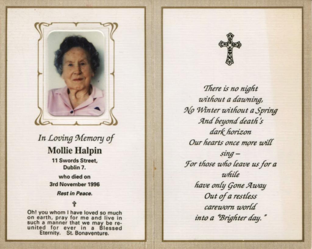 Memorial Card Quotes - Under.bergdorfbib.co | Free Printable Funeral Prayer Card Template