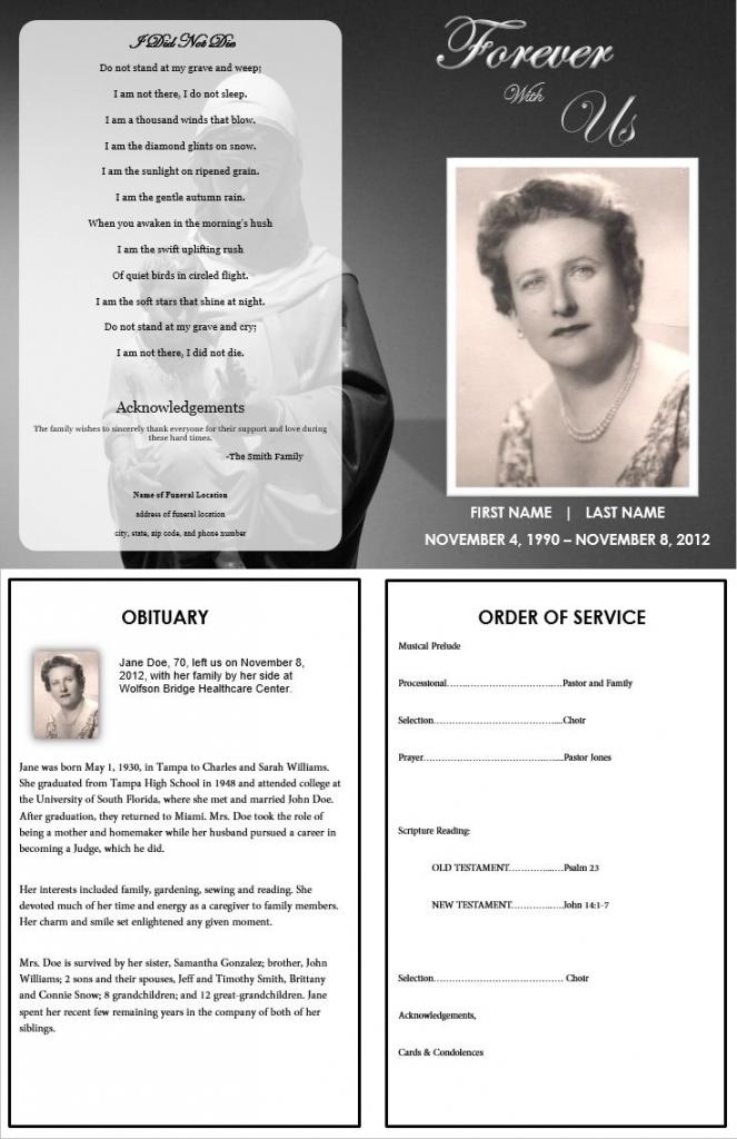Memorial Card Template Microsoft Word - Kleo.bergdorfbib.co | Free Printable Funeral Prayer Card Template