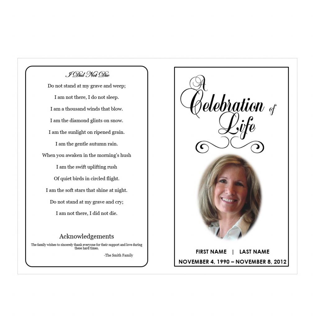 Memorial Templates Microsoft Word - Kleo.bergdorfbib.co | Free Printable Funeral Prayer Card Template