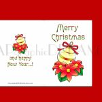 Merry Christmas Cards. Printable Folded Xmas Cards. Holiday | Etsy | Merry Christmas Cards Printable