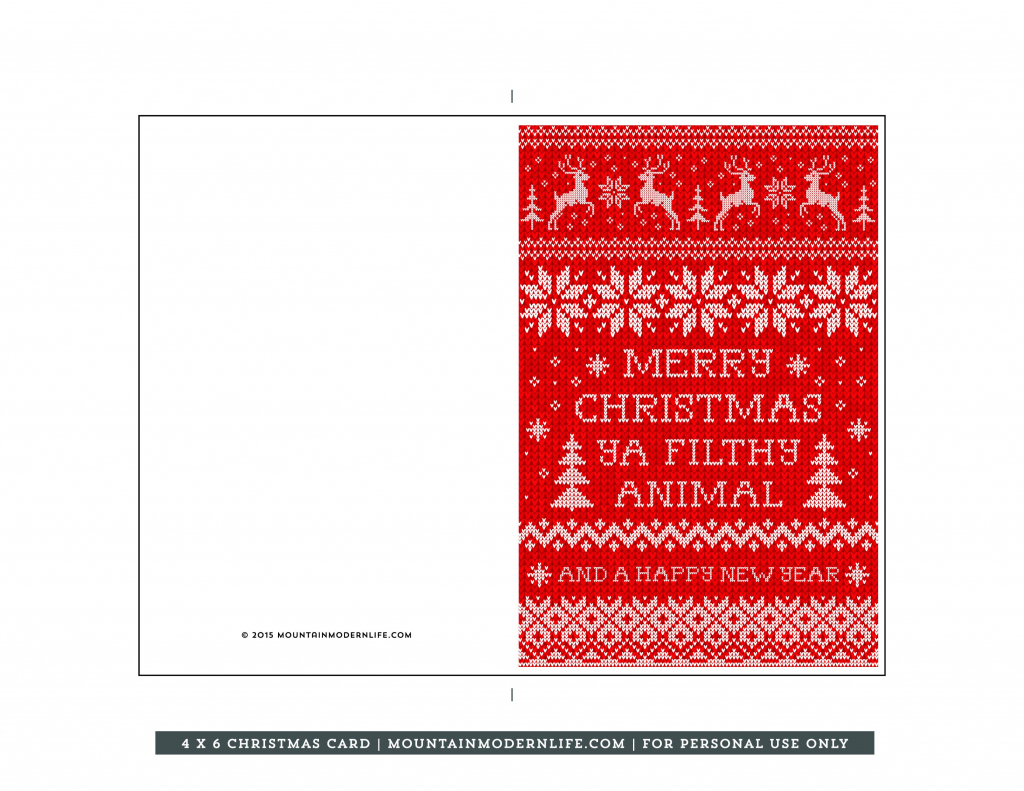 Merry Christmas Cards Printable | Theveliger | To And From Christmas Cards Printable
