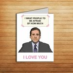 Michael Scott Card The Office Tv Show Valentines Day Card Love | Etsy | The Office Printable Birthday Card