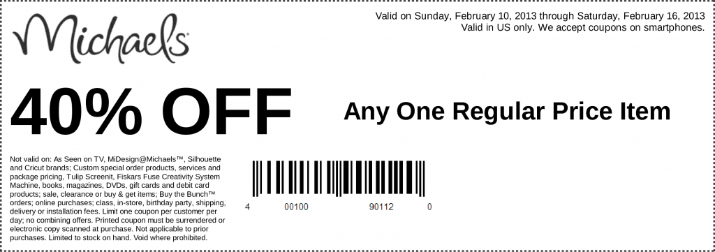Michaels Coupon Today - Siphosjamaica | Michaels Printable Gift Card