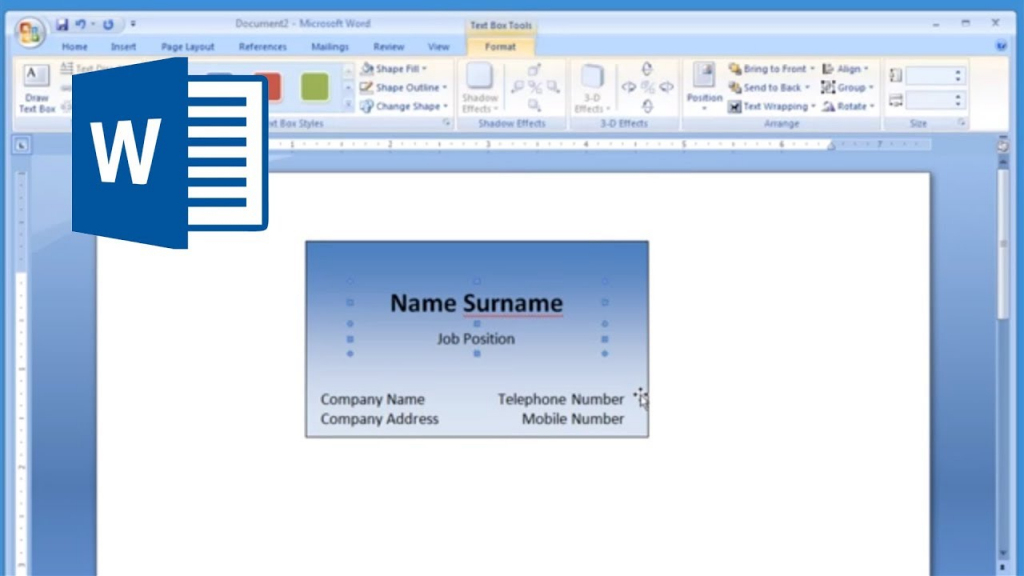 Microsoft Word - How To Make And Print Business Card 1/2 - Youtube | Free Printable Business Card Maker
