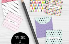 Mini Note Cards And Envelopes Set Of 9 Mini Cards – Free Printable | Free Printable Picture Cards