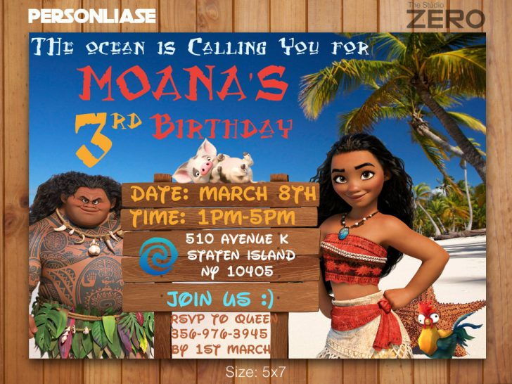 Moana Birthday Card Printable