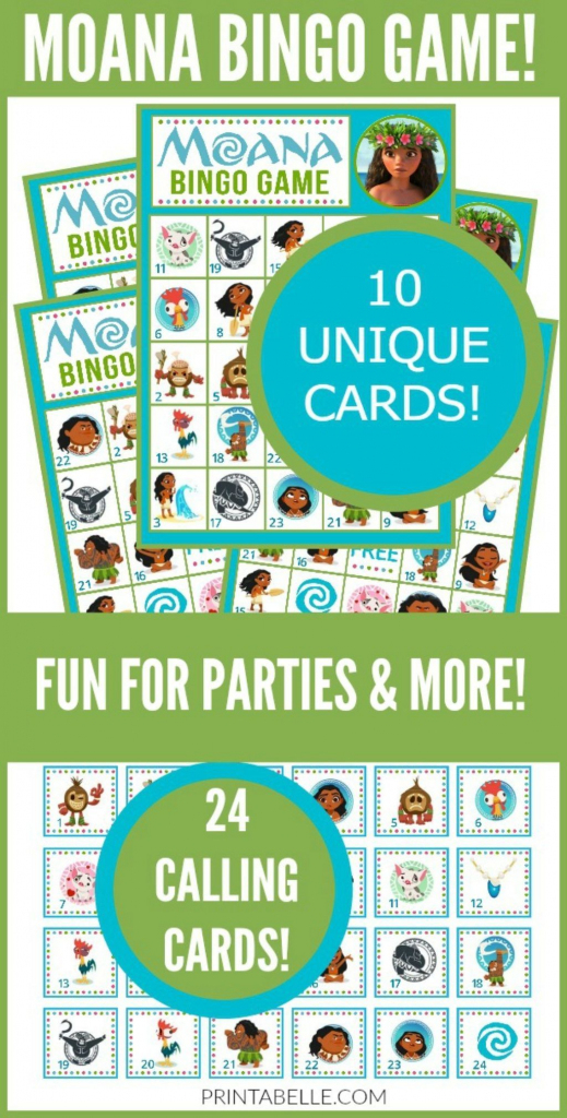 Moana Bingo Game In 2019 | Party Games And Activities Printables | Printable Hawaiian Bingo Cards