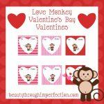 Monkey Valentines {Free Printables}   Beauty Through Imperfection | Free Printable Valentine Cards For Preschoolers