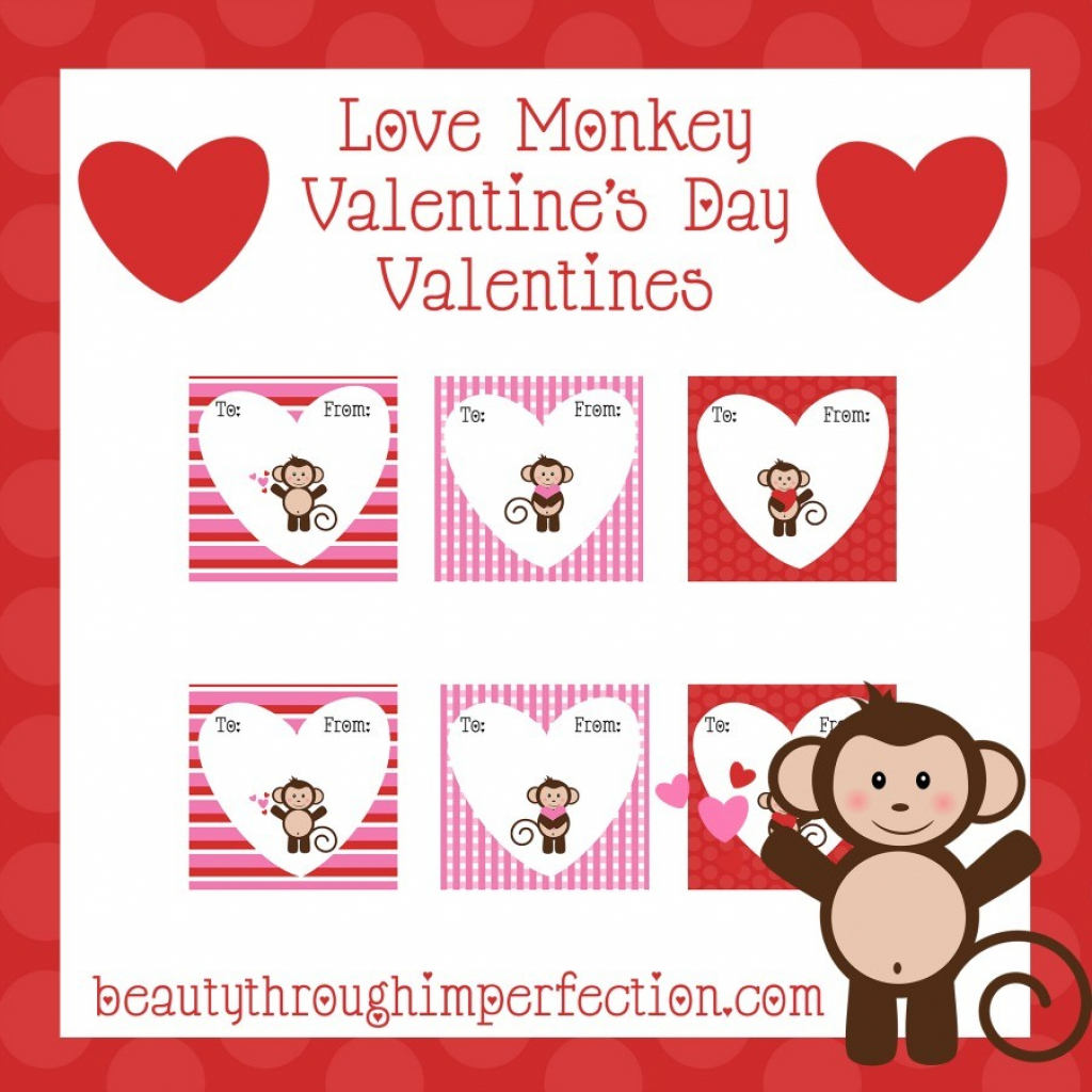 Monkey Valentines {Free Printables} - Beauty Through Imperfection | Free Printable Valentine Cards For Preschoolers