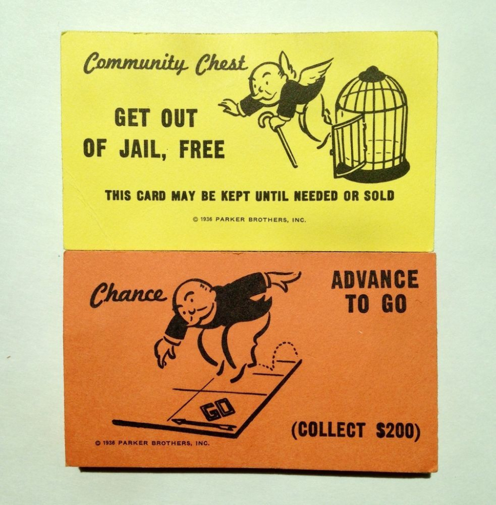 Monopoly Replacement Chance & Community Chest Cards Full Set Crafts | Monopoly Chance And Community Chest Cards Printable
