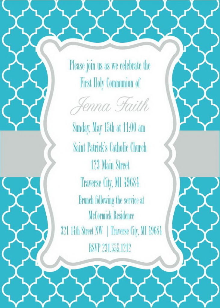 Moroccan First Communion Invitations | First Communion | First | 1St Communion Cards Printable