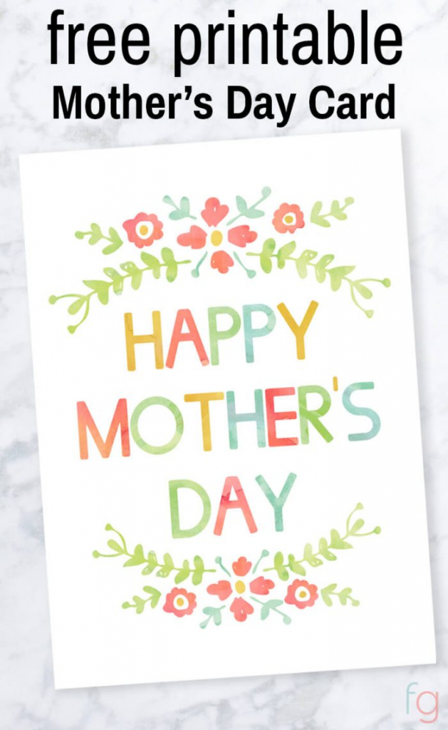 Mother's Day Card - Free Printable | Free Printable Mothers Day Card From Dog