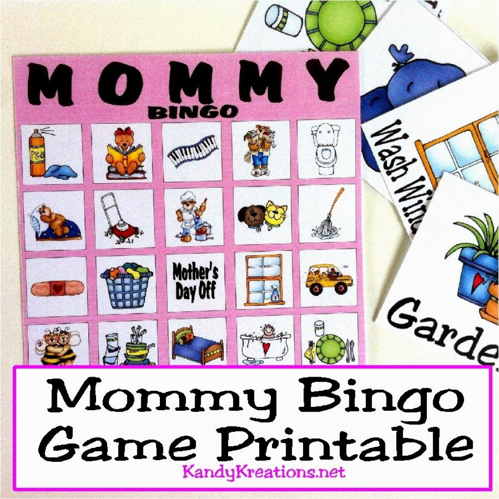 Mothers Day Mommy Bingo Game Printable | Free Printables From | Printable Mothers Day Bingo Cards