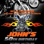 Motorcycle Invitation Printable File Diy   Bike Birthday Invitation | Harley Davidson Cards Printable