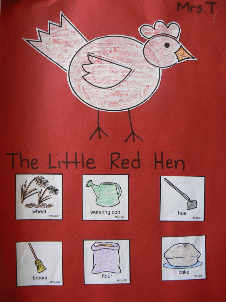 Mrs. T's First Grade Class: The Little Red Hen | Little Red Hen Sequencing Cards Printable