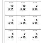 Multiplication Flash Cards Printable Front And Back Math Color Flash | Printable Math Flash Cards