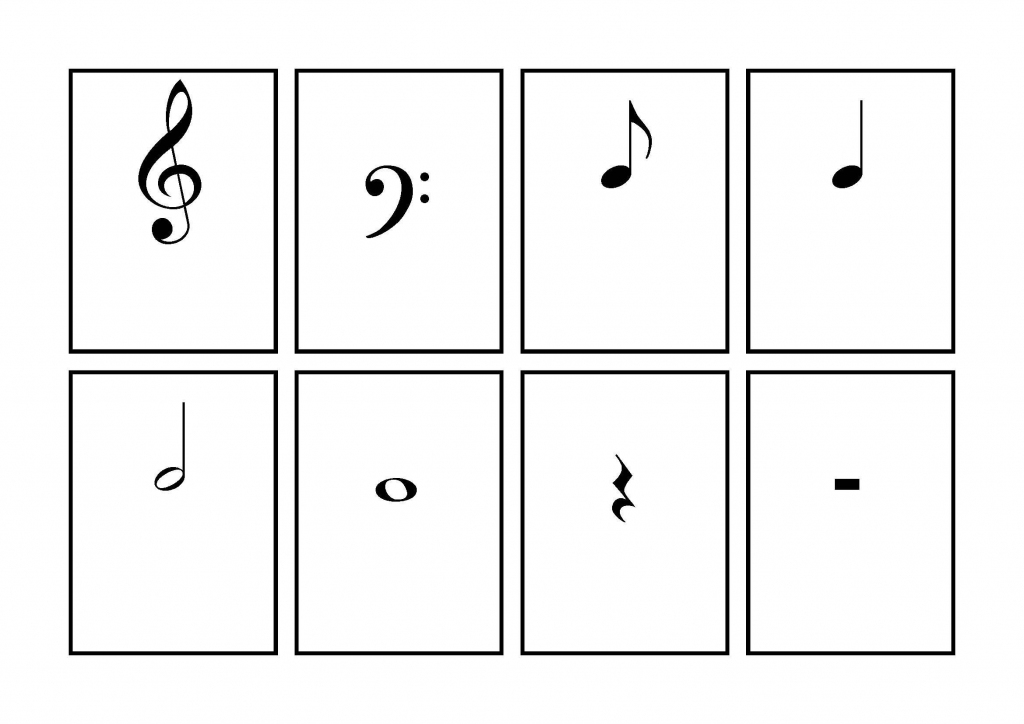 Music Symbol Flash Cards - Printable | School | Learning Music Notes | Piano Music Notes Flash Cards Printable