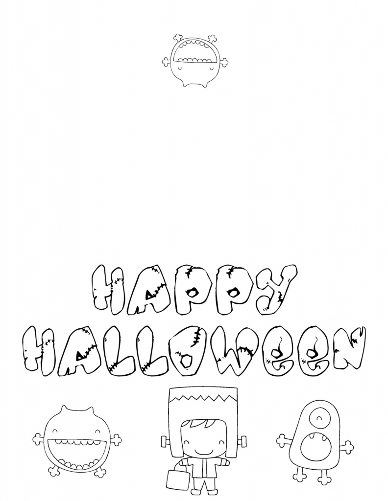 Musings Of An Average Mom: Free Halloween Cards To Color | Printable Halloween Cards To Color For Free