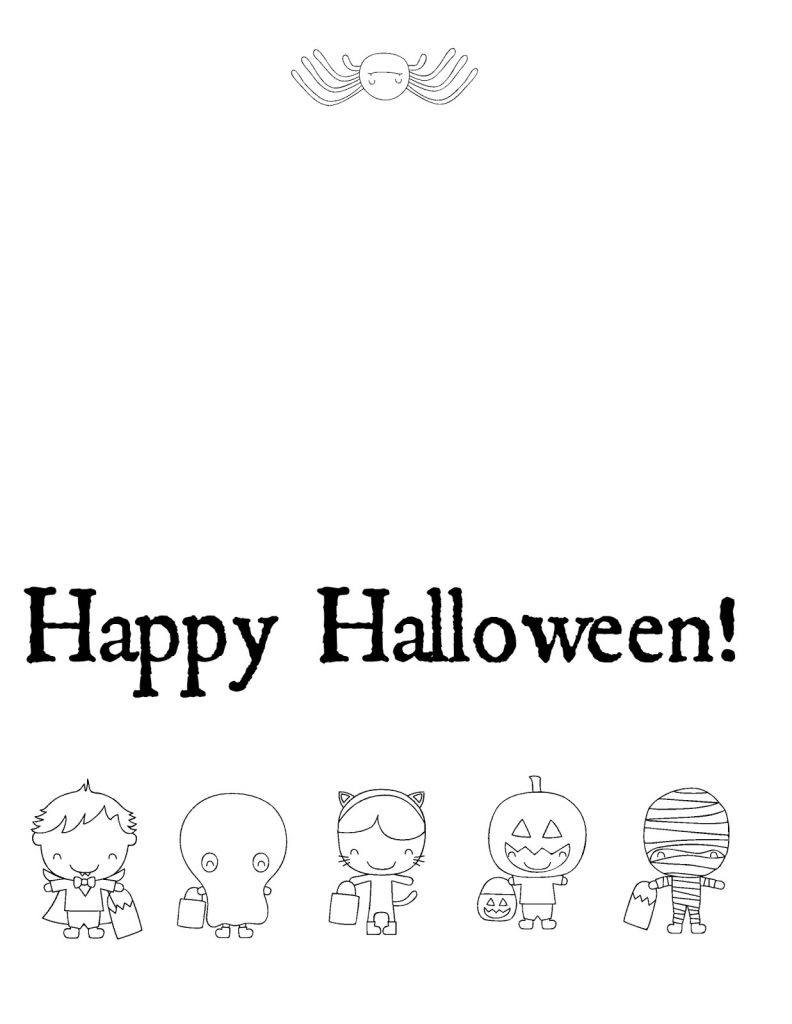 Musings Of An Average Mom: Free Halloween Cards To Color - Printable | Printable Halloween Cards To Color For Free
