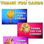 Musings Of An Average Mom: Free Printable Emoji Move Thank You Cards   Printable Emoji Thank You Cards