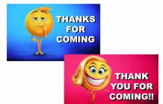 Printable Emoji Thank You Cards