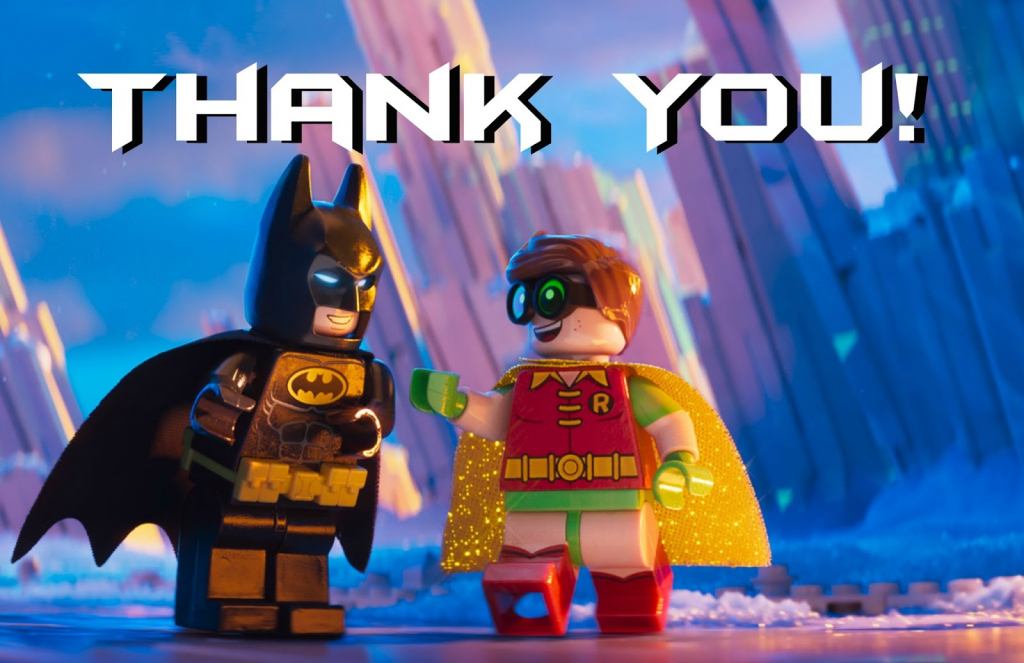 Musings Of An Average Mom: Lego Batman Thank You Cards | Batman Thank You Cards Printable