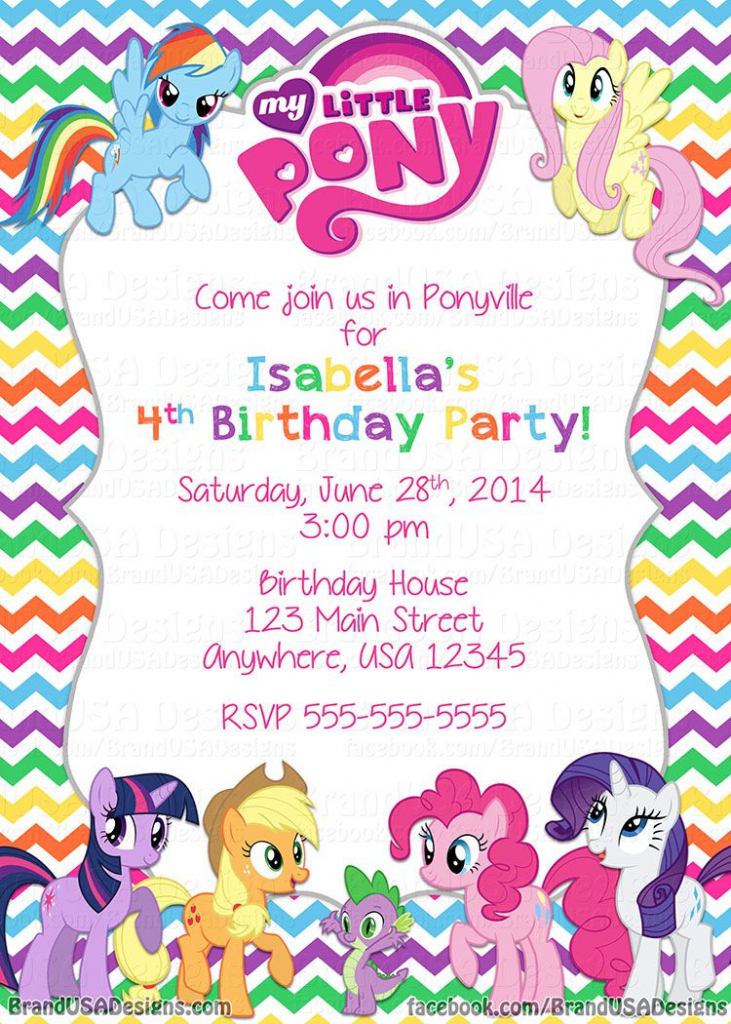 My Little Pony Birthday | Mlp Party | My Little Pony Birthday | My Little Pony Printable Cards