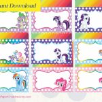 My Little Pony Printable Food Tent Editable Pdf / Place Cards | My Little Pony Printable Cards