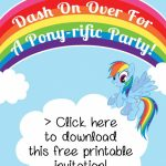 My Little Pony Rainbow Dash Birthday Party Printables | Birthday's | Free Printable My Little Pony Thank You Cards
