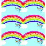 My Little Pony Rainbow Dash Birthday Party Printables | My Little | Free Printable My Little Pony Thank You Cards