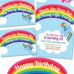 My Little Pony Rainbow Dash Birthday Party Printables | Party Ideas | Free Printable My Little Pony Thank You Cards