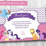 My Little Pony Thank You Card Instant Download Editable | Etsy | Free Printable My Little Pony Thank You Cards