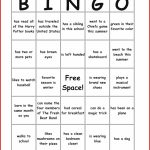 New Bingo Card Template | Leave Latter | Printable Icebreaker Bingo Cards