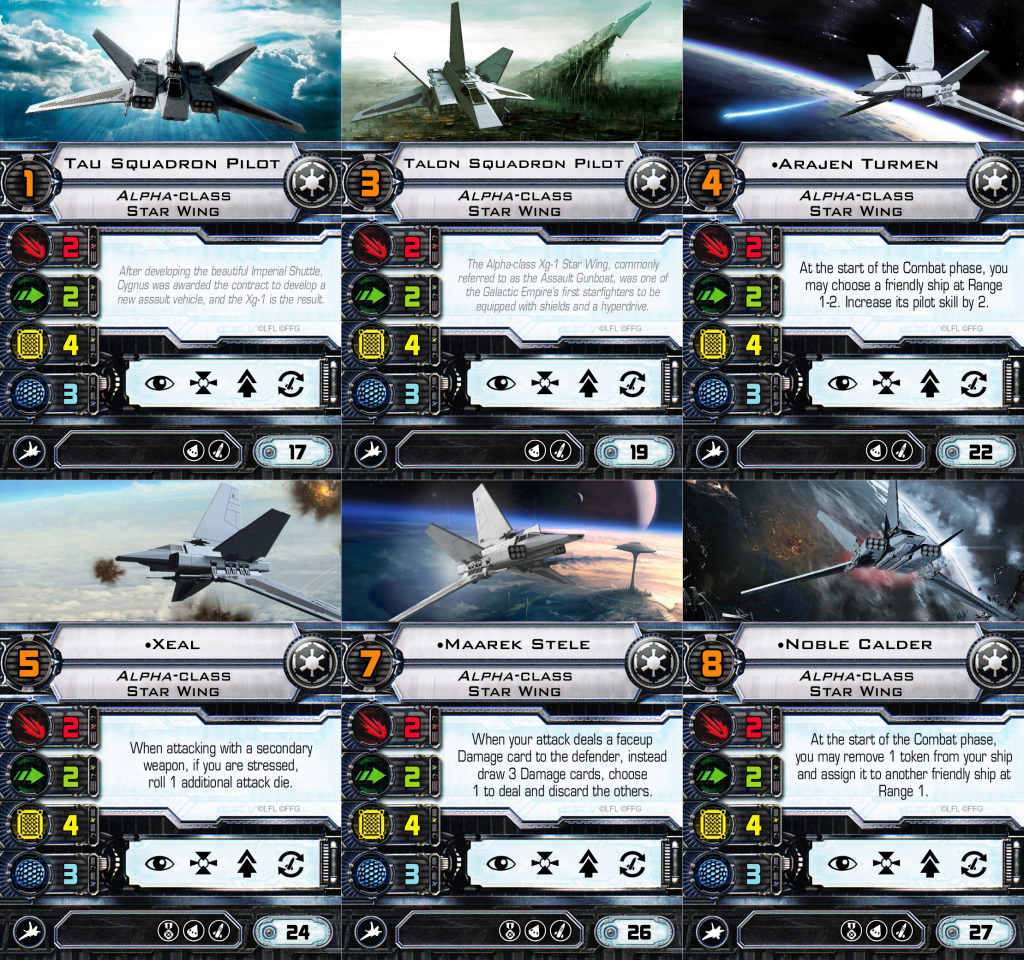 New] Odanan's Custom Cards - X-Wing - Ffg Community | X Wing Printable Cards