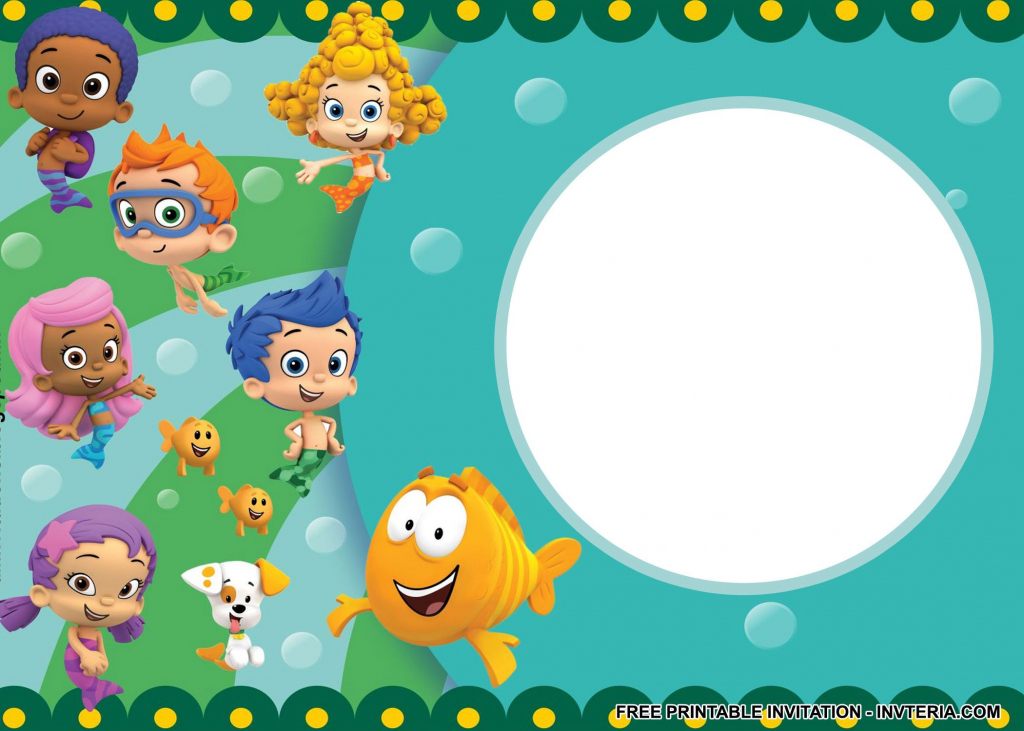 Nice Best Free Printable Bubble Guppies Birthday Invitations Idea | Bubble Guppies Printable Birthday Cards