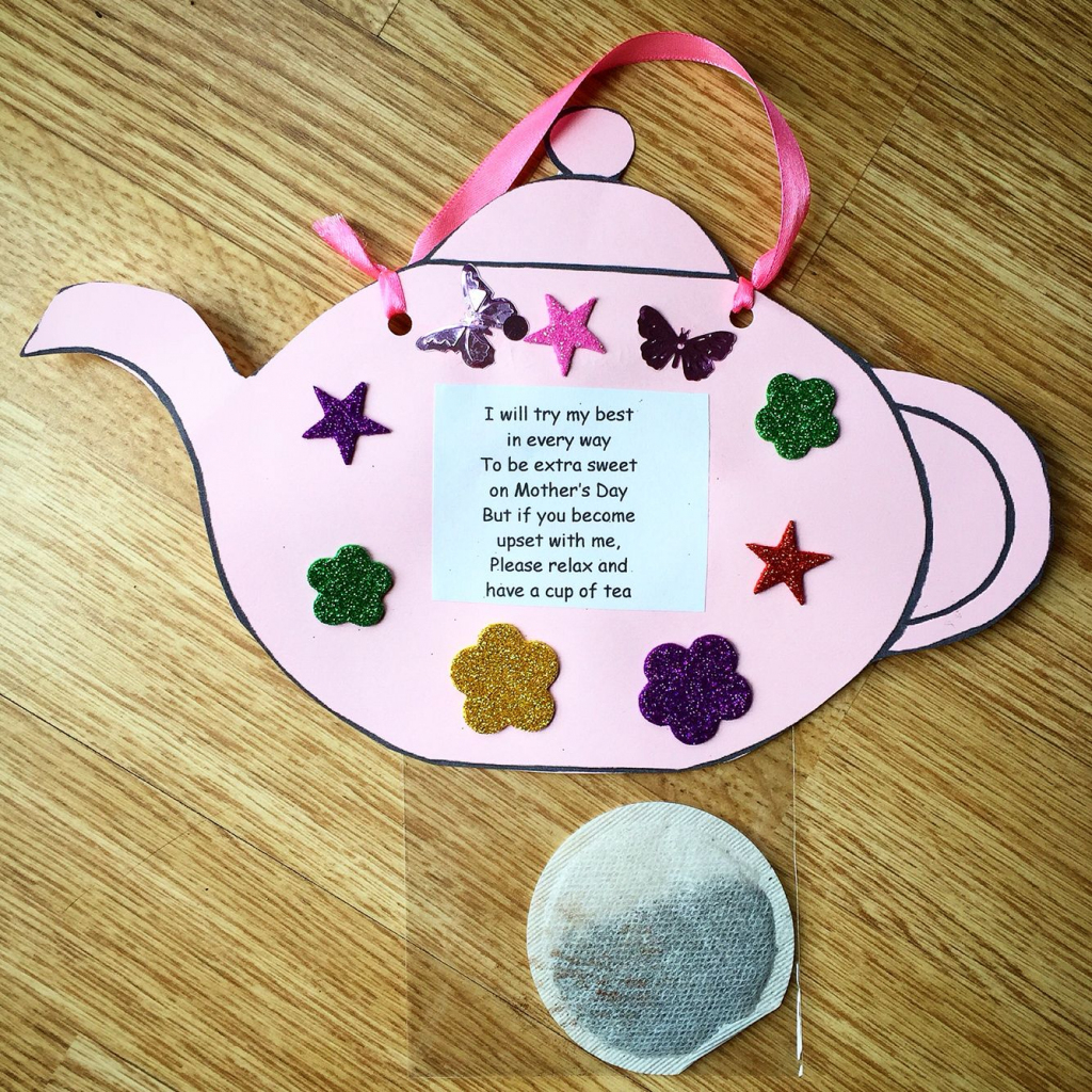 Nice Idea For Mother's Day. Tea Pot Complete With Tea Bag And Poem | Teapot Mother's Day Card Printable Template