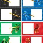 Ninjago Food Labels | Lego Ninja Printables | Birthday, Lego | Ninjago Printable Birthday Card