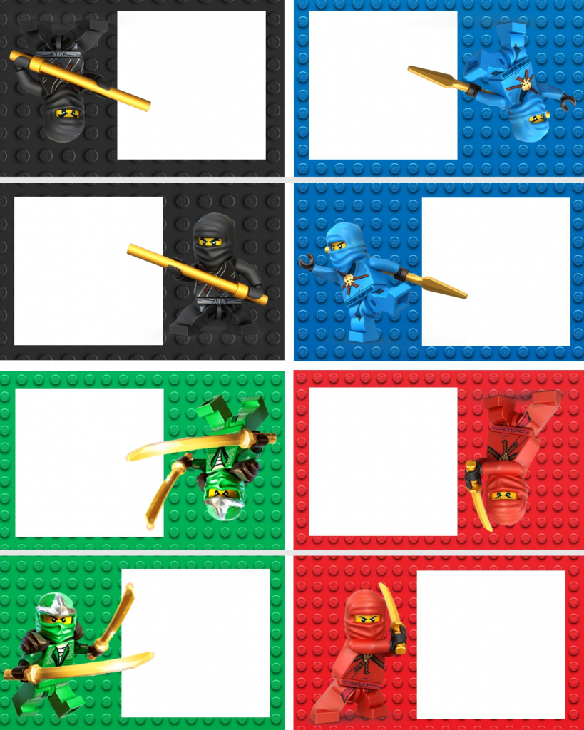 Ninjago Food Labels | Lego Ninja Printables | Birthday, Lego | Ninjago Printable Birthday Card