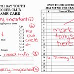 North Bay Youth Soccer Club > Referees > How To Fill Out A Game Card | Printable Football Referee Game Cards
