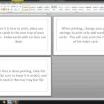 Note/index Cards   Word Template   Youtube | Printable Index Cards 3X5