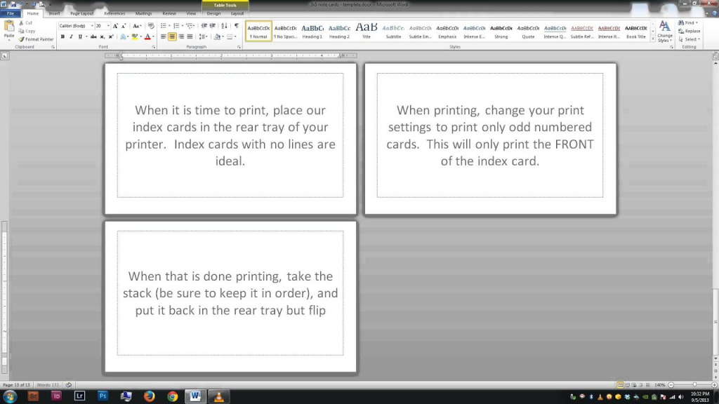 Note/index Cards - Word Template - Youtube | Printable Index Cards 3X5