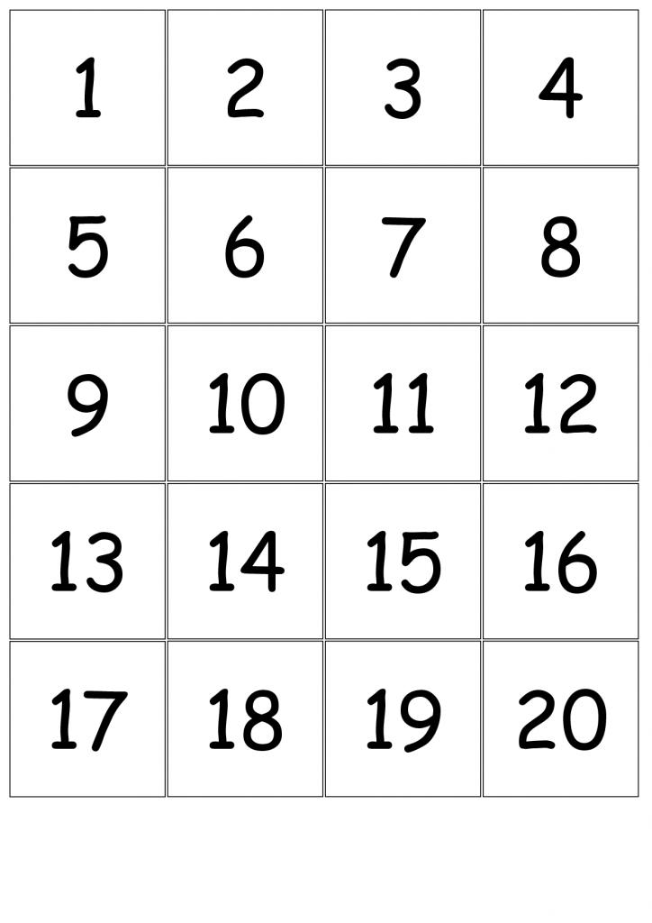 Number Card Templates - Kleo.bergdorfbib.co   Free Printable Number Cards