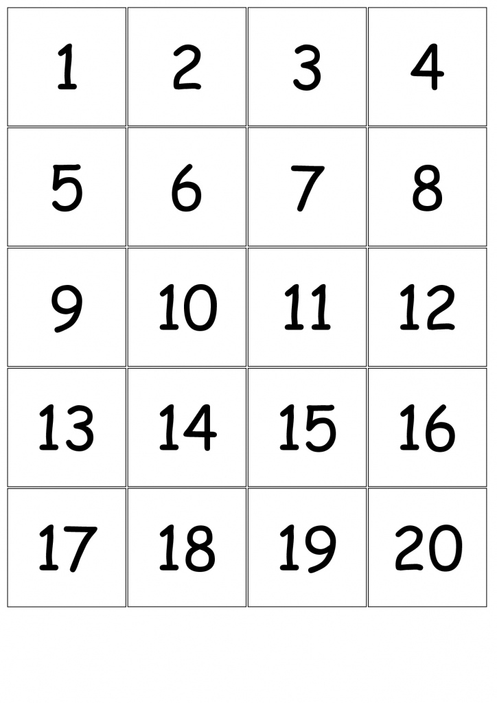 Number+Cards+1-20 | Kindergarten Number Sense | Numbers Kindergarten | Printable Number Cards 1 20