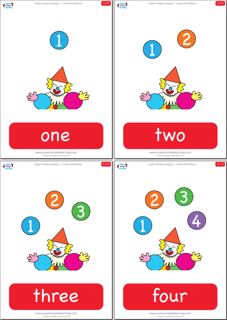 Numbers 1-20 Flashcards - Super Simple | Number Word Flash Cards Printable 1 20